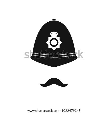 british policeman in helmet