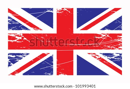 British Union Jack flag, vector illustration