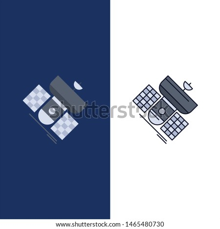 Broadcast, broadcasting, communication, satellite, telecommunication Flat Color Icon Vector. Vector Icon Template background