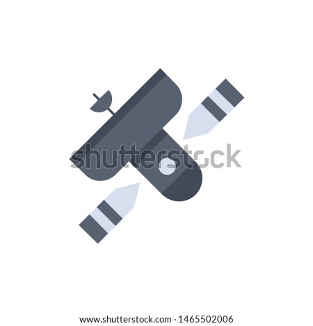Broadcast, broadcasting, radio, satellite, transmitter Flat Color Icon Vector. Vector Icon Template background