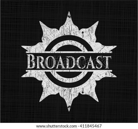 Broadcast chalkboard emblem