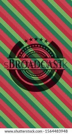 Broadcast christmas emblem background. Vector Illustration. Detailed.