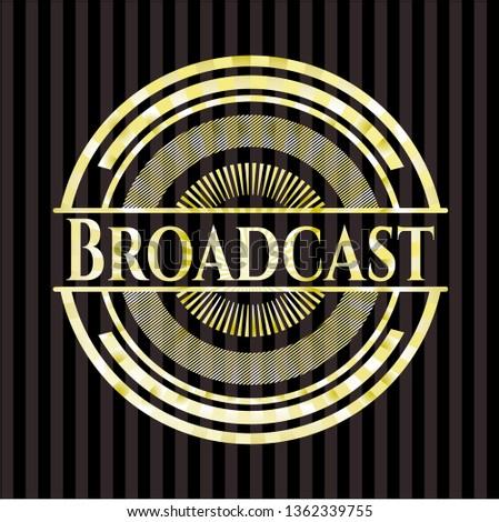 Broadcast gold badge or emblem