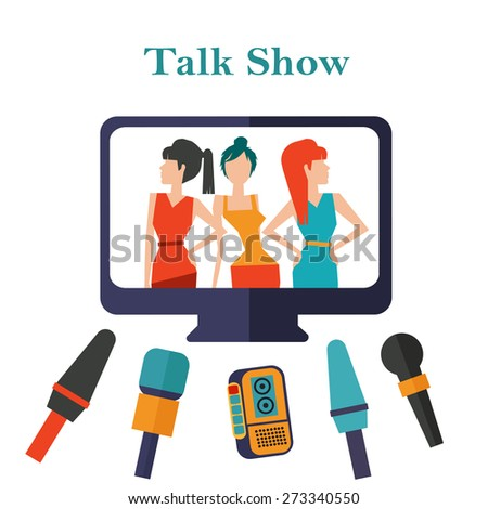 Broadcast interview on talk show