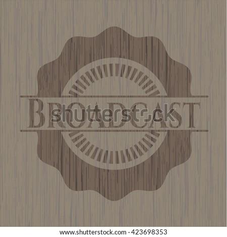 Broadcast realistic wooden emblem