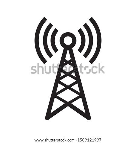 broadcast, transmitter antenna icon design vector illustration