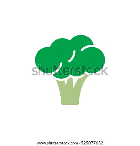 Broccoli icon vector, filled flat sign, solid colorful pictogram isolated on white, logo illustration