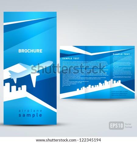 brochure airplane