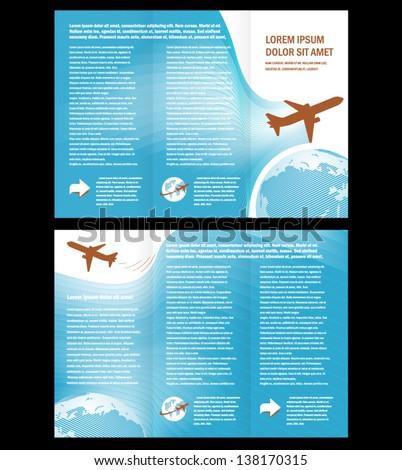 Brochure Airplane Flight Tickets Air Fly Cloud Sky Blue