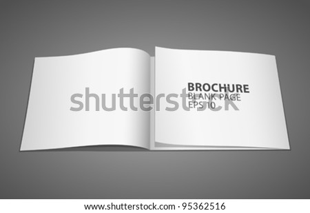 Brochure blank paper white page, vector illustration