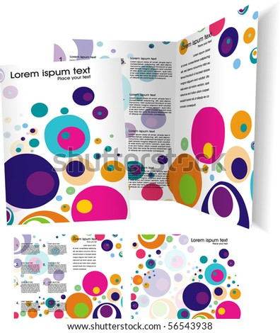 Brochure ( booklet ) cover template. Vector Illustration