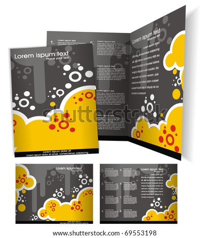 Brochure business ( booklet ) cover template. Editable Vector Illustration