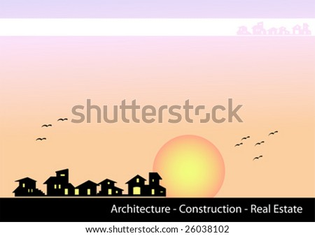 real estate brochure cover. stock vector : Brochure Cover
