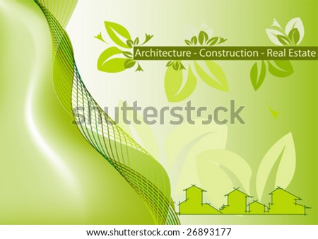 real estate brochure cover. stock vector : Brochure Cover - Business Card for architecture, construction, real estate company