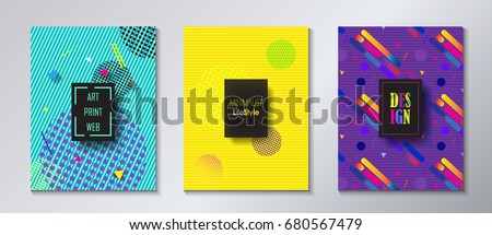 brochure cover design set