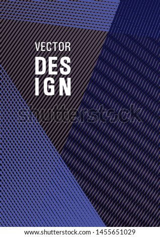 Brochure cover page layout geometric vector design. Digital stylish outlet backdrop. Futuristic publication paper. Banner backdrop simple print idea. Stationery notebook cover design.