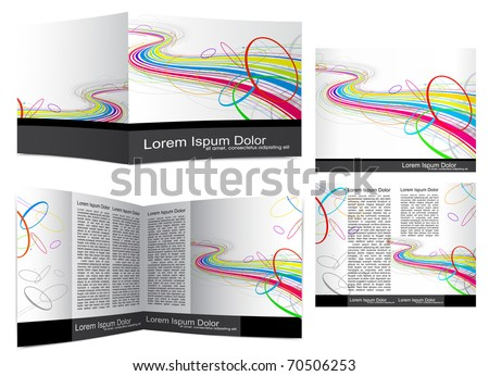Brochure cover template( booklet ).  Editable Vector Illustration