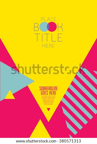 Brochure cover with background design/ Vector poster design/ Abstract background pattern/ Graphic design/ Book cover template/ Fashion and cosmetic magazine layout/ Scrapbook design