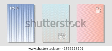 Brochure covers, posters, banners vector templates. Digital collection. Zigzag halftone lines wave stripes backdrops. Presentation backdrops. Geometric graphic design for booklet brochure covers.