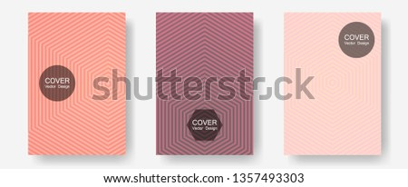 Brochure covers, posters, banners vector templates. Music album adverts. Halftone lines annual report templates. Trendy magazines. Geometric graphic design for booklet brochure covers.