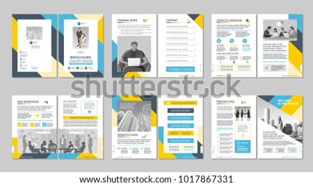 company business brochure page design download free vector art