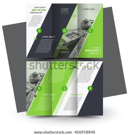 Brochure design, business brochure template, creative tri-fold, trend brochure