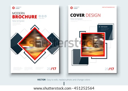 Creative Booklet Brochure Template Design With Rectangle Shapes - Modern brochure design templates