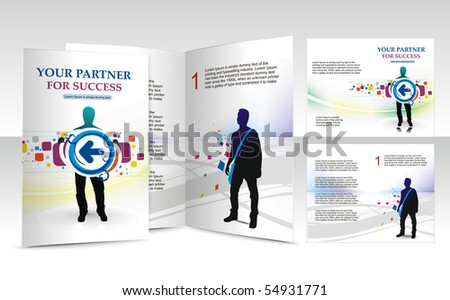 brochure design for bushiness partner, vector illustartion.