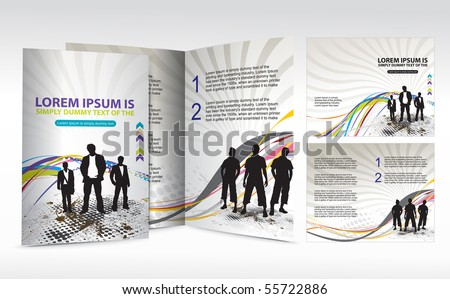 brochure design for Business artworks. Vector illustration.