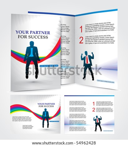 brochure design for business partner, vector illustartion.