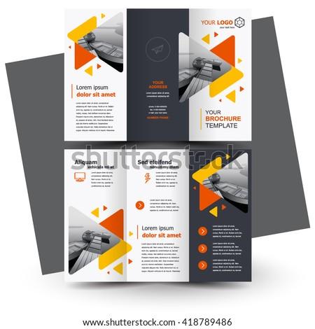 brochure design  geometric