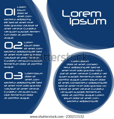 brochure design geometric blue shapes