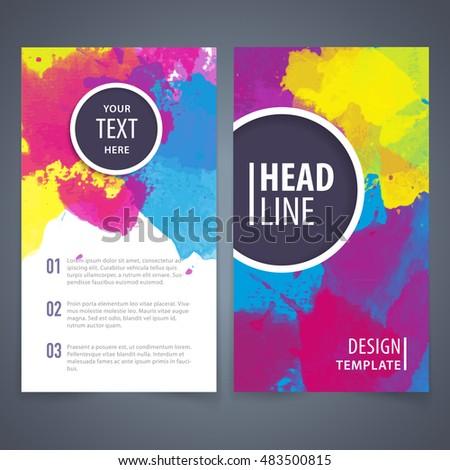 Brochure design template, Brochure design layout, Brochure design cover, Brochure design mockup, Brochure design page, Brochure design concept, Brochure design vector.Watercolor background..