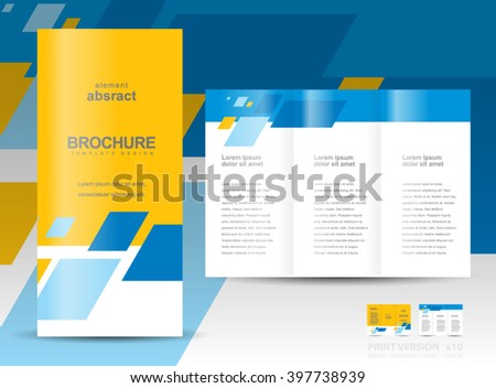 Free Tri Fold Brochure Vector Template Download Free Vector Art - Brochure tri fold templates