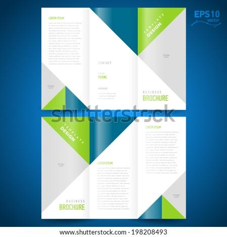 brochure design template triangles figure, frame for images