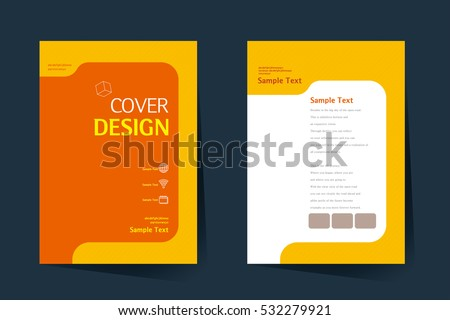 Simple Blue Brochure Design Template In Size A Download Free - Basic brochure template