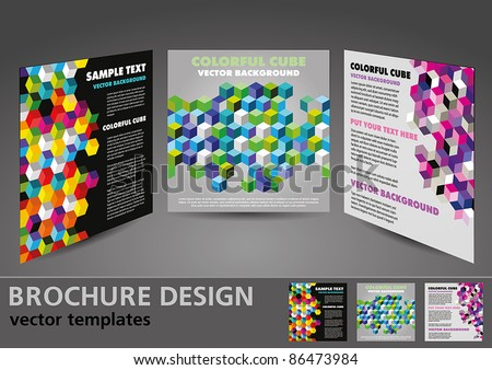 Brochure design vector templates