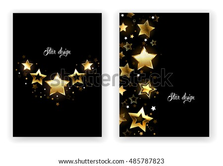 brochure design with gold