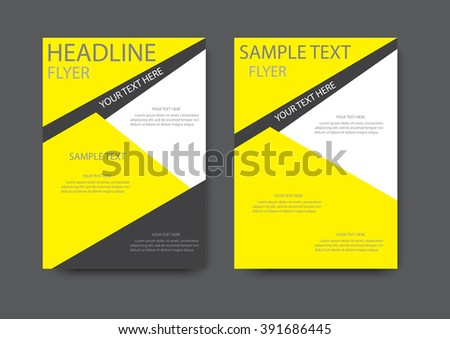 Corporate brochure flyer design layout template in a4 size with bleed - Royalty Free Simple Triangle And Circle Brochure