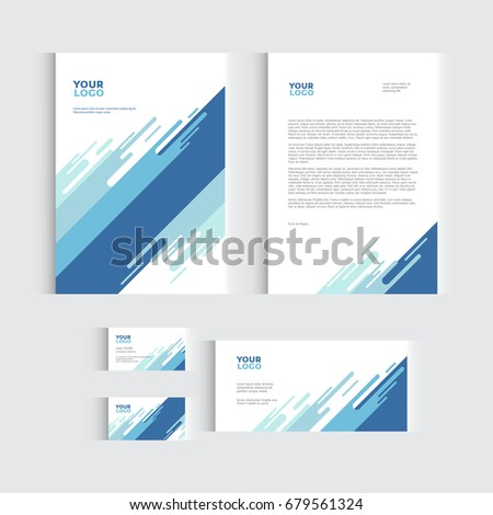 Brochure, flyer or report for vector business template. Vector illustration