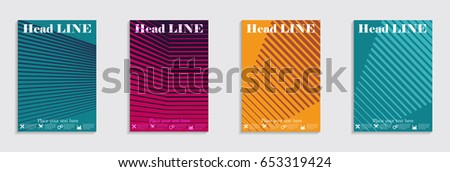 Brochure. Geometric halftone gradients. Eps10 vector. #653319424