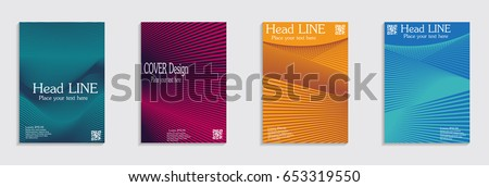 Brochure. Geometric halftone gradients. Eps10 vector. #653319550