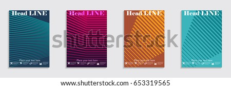 Brochure. Geometric halftone gradients. Eps10 vector. #653319565