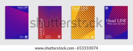 Brochure. Geometric halftone gradients. Eps10 vector. #653333074