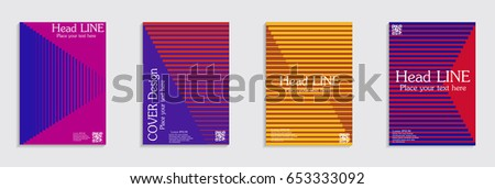 Brochure. Geometric halftone gradients. Eps10 vector. #653333092