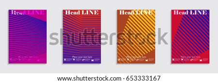 Brochure. Geometric halftone gradients. Eps10 vector. #653333167