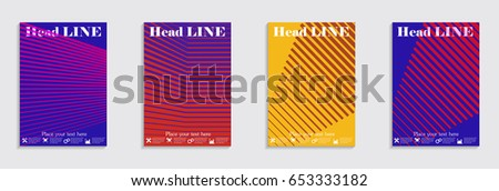 Brochure. Geometric halftone gradients. Eps10 vector. #653333182