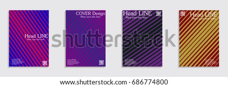 Brochure. Geometric halftone gradients. Eps10 vector. #686774800