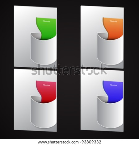 brochure holders set, abstract vector art illustration; image contains transparency - stock vector