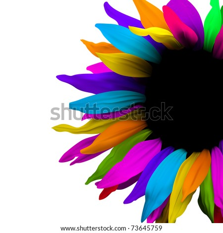 brochure layout flower background